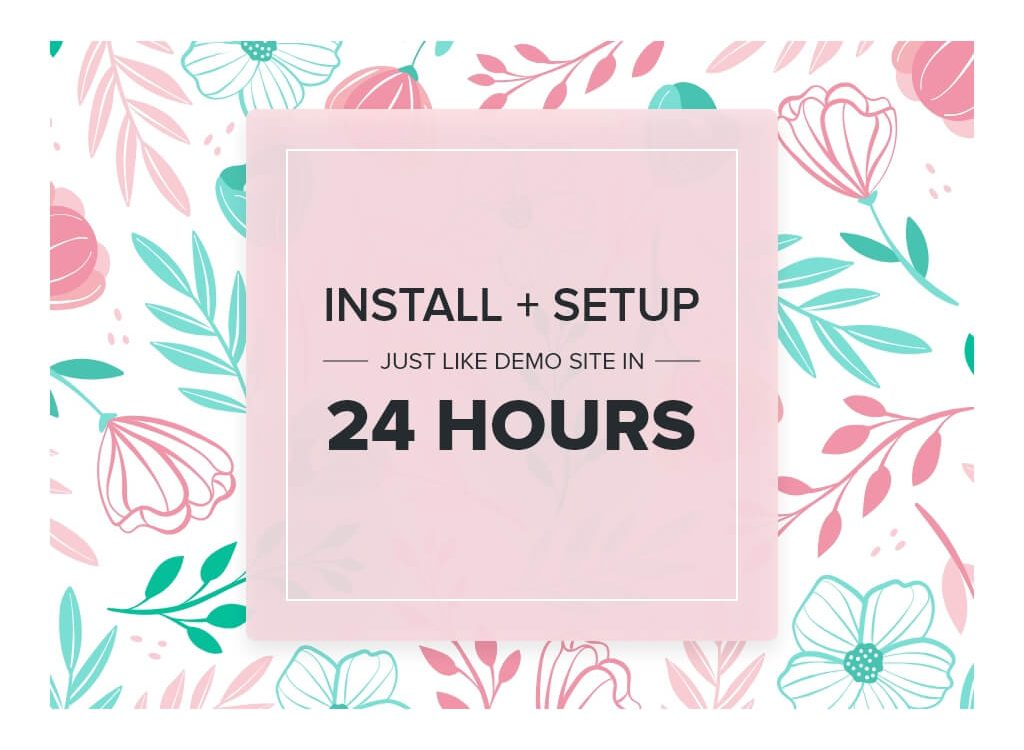 Blossom Theme Installation and Setup