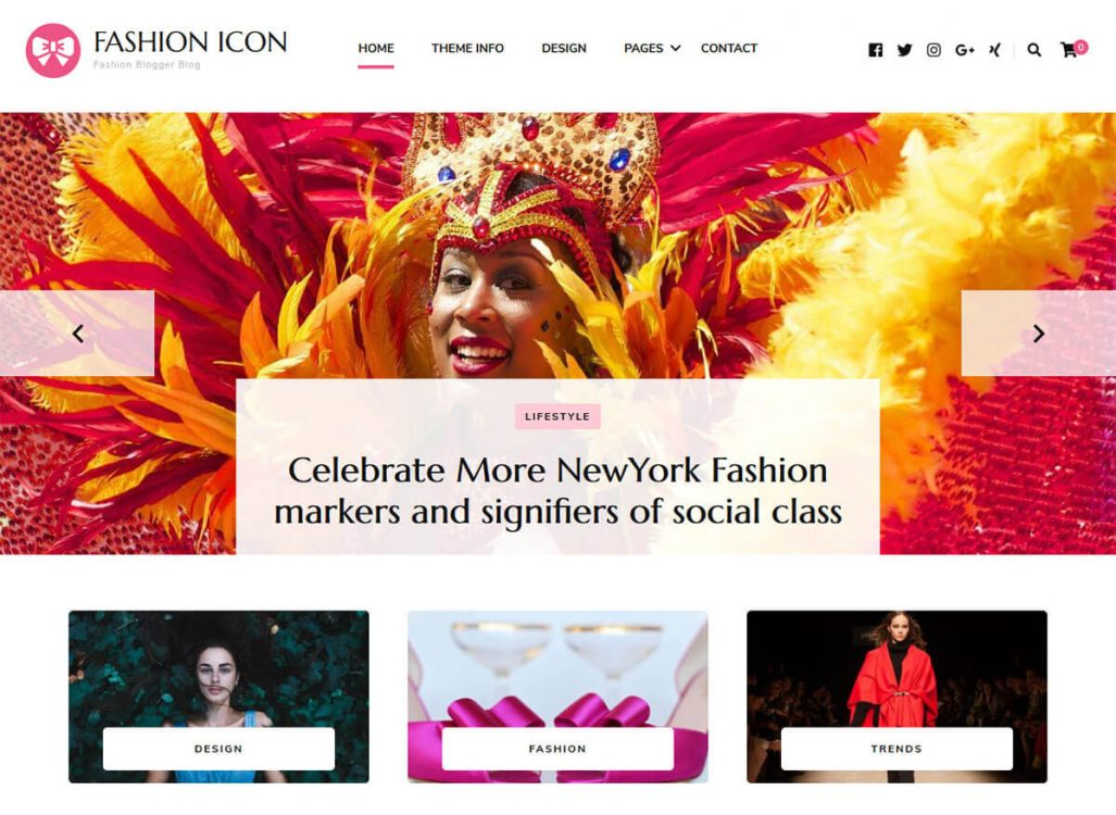 Fashion Icon Free WordPress Theme