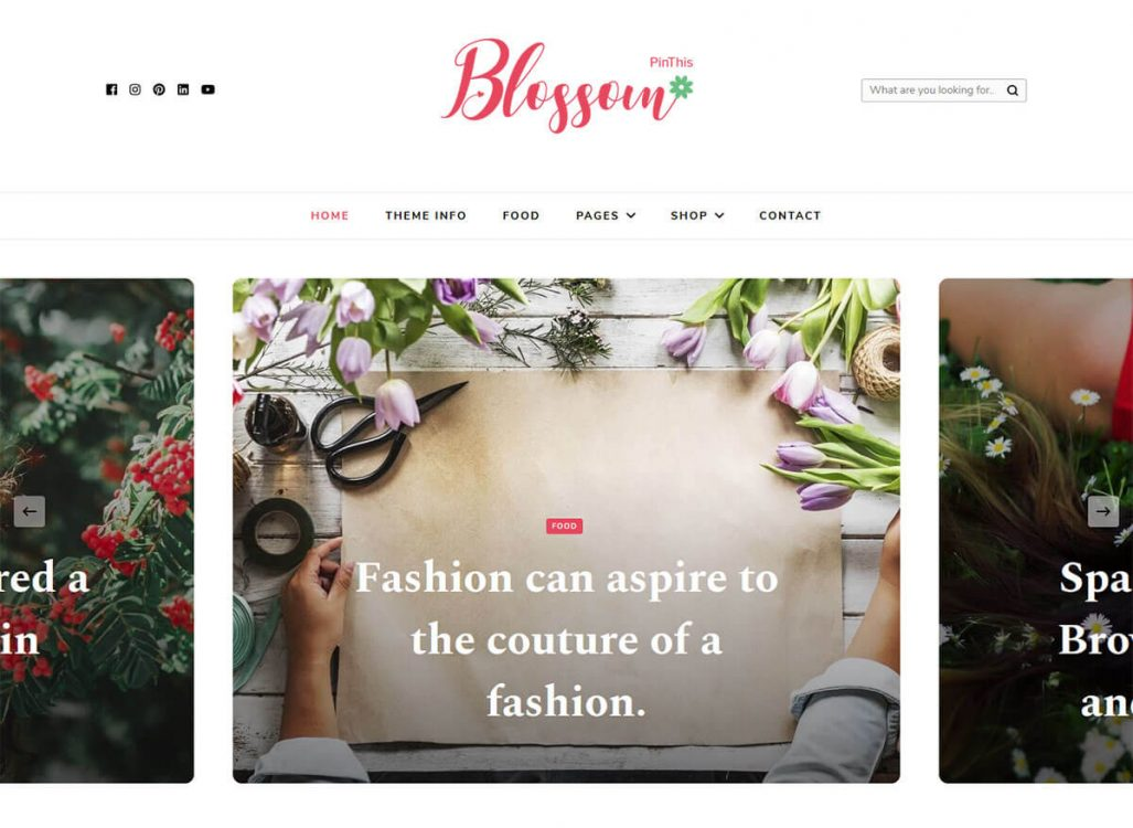 Blossom PinThis Features