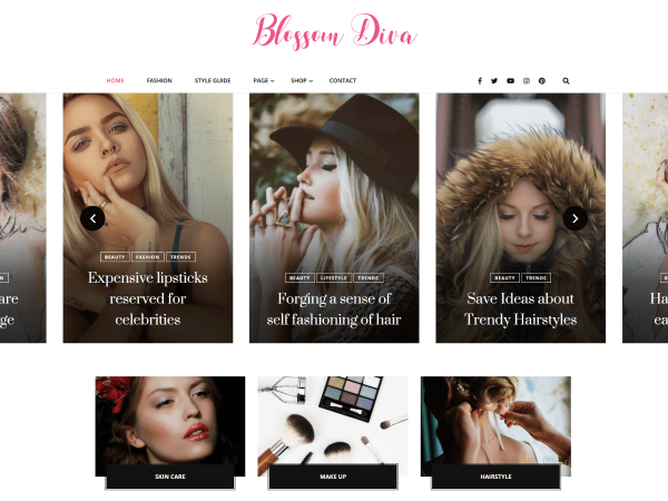 Blossom Diva WordPress theme