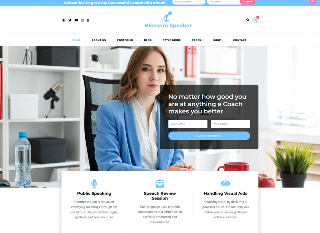 Blossom Speaker Free WordPress Theme