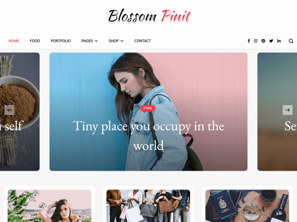 Blossom PinIt WordPress Theme