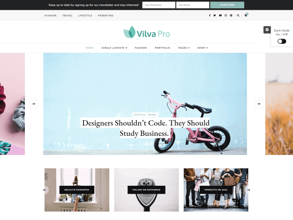 Vilva Pro WordPress Theme
