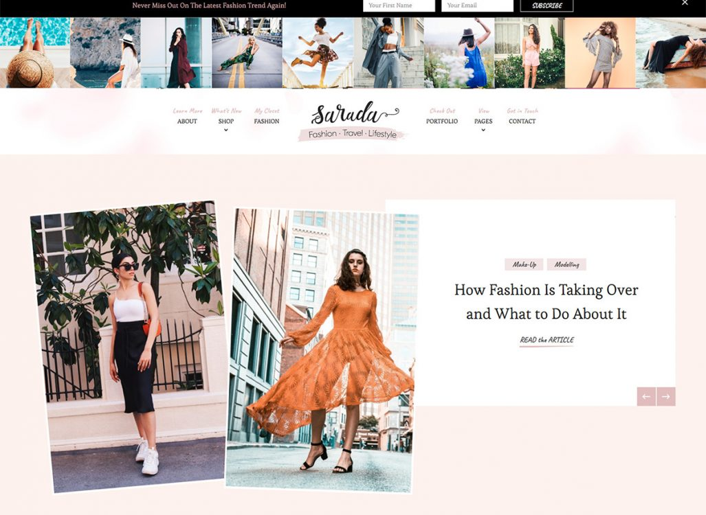 Sarada WordPress Theme