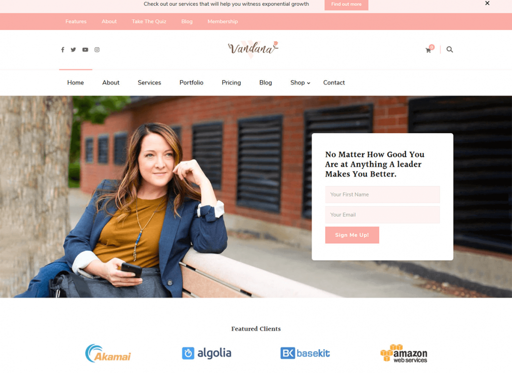 Vandana WordPress Theme