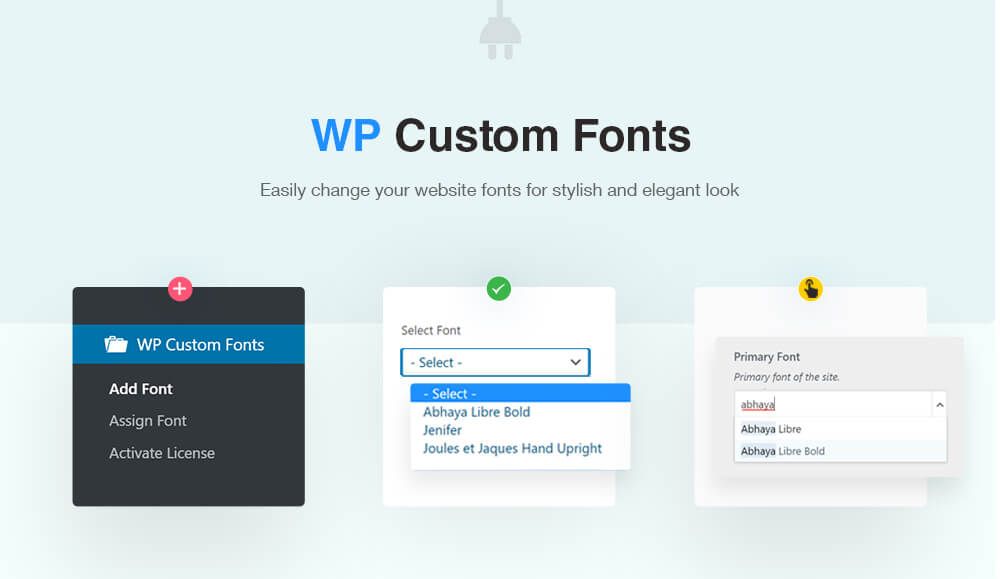 WP Custom Fonts Plugin